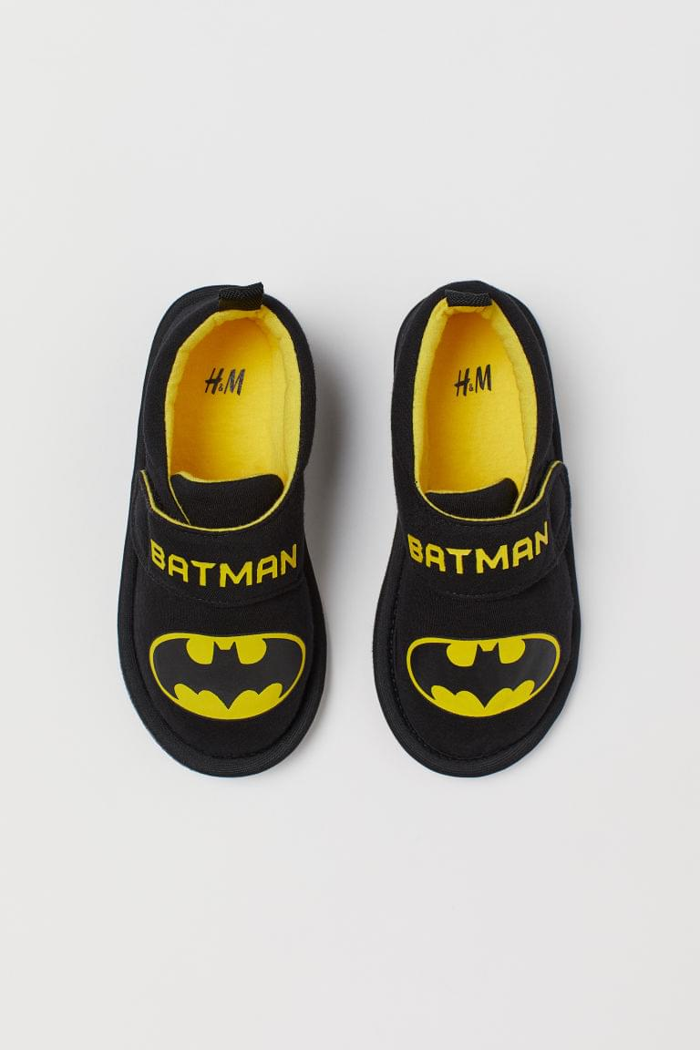 Boy's Printed Jersey Slippers