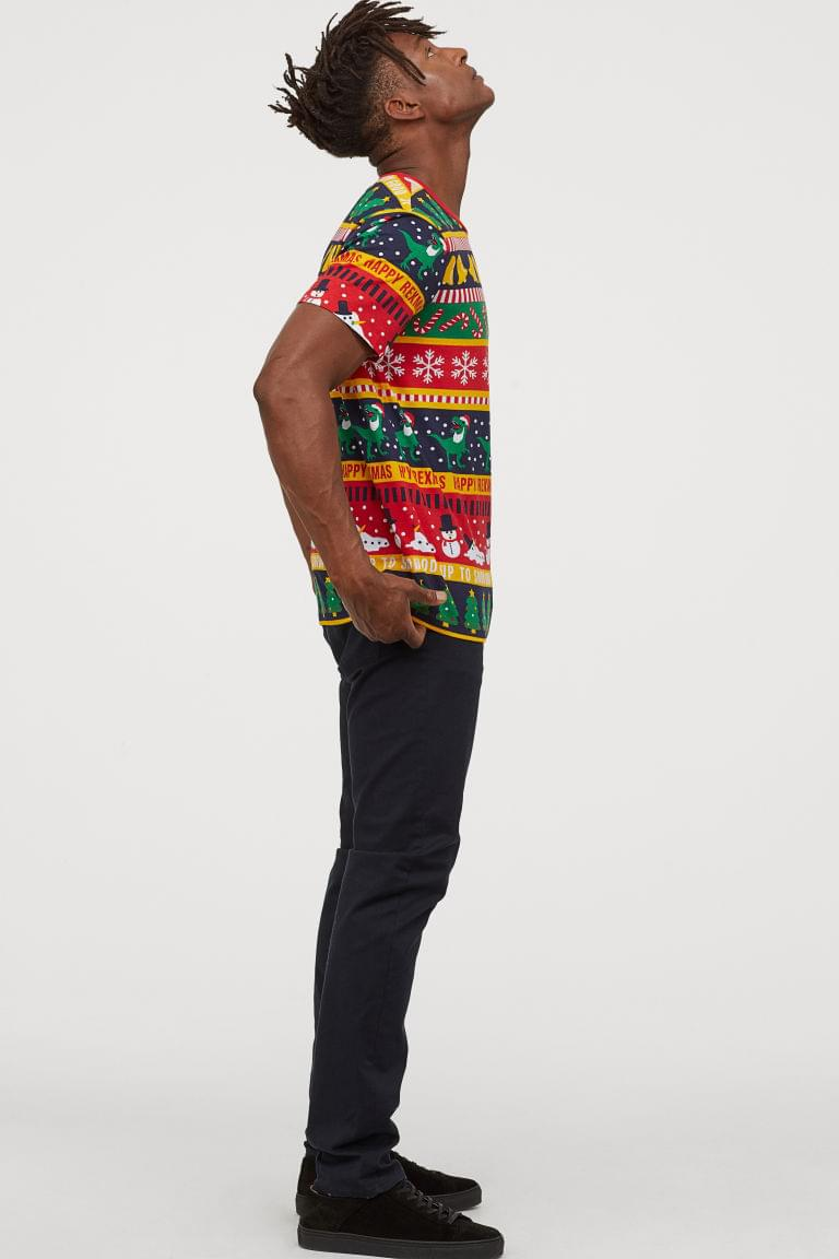 Men's T-shirt with Printed Design