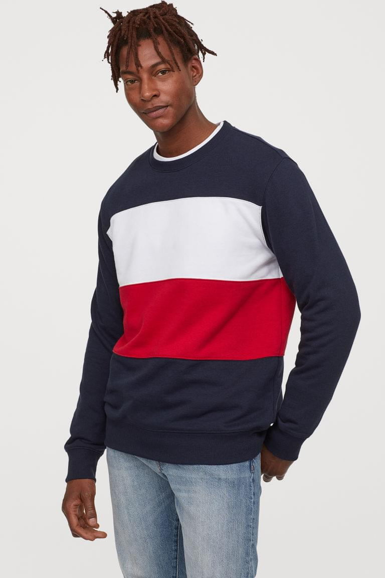 Men's Color-block Sweatshirt