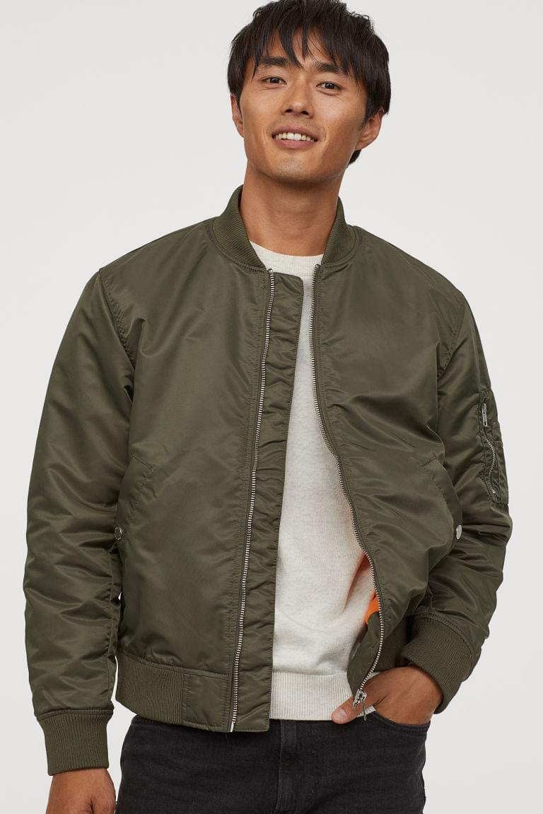 Men's Nylon Bomber Jacket
