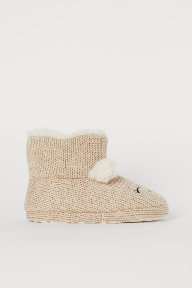 Girl's Warm-lined Slippers