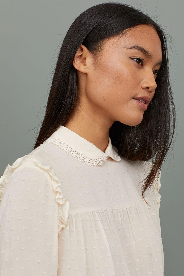 Women's Blouse with Ruffle