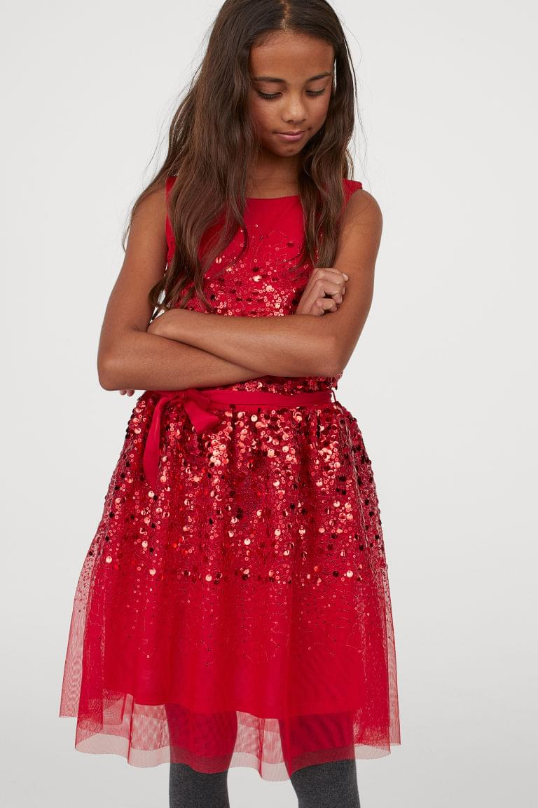 Girl's Tulle Dress with Sequins