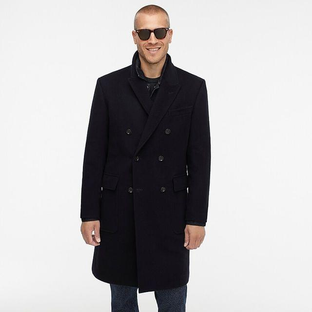 MEN Ludlow double-breasted topcoat in wool-cashmere