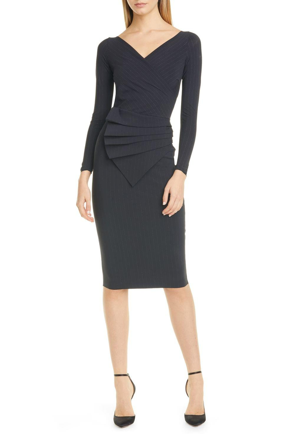 Women's Chiara Boni La Petite Robe Kaya Long Sleeve Ruffle Cocktail Dress