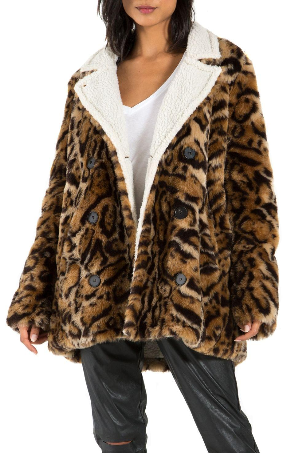 Women's n PHILANTHROPY Turn Faux Fur Jacket