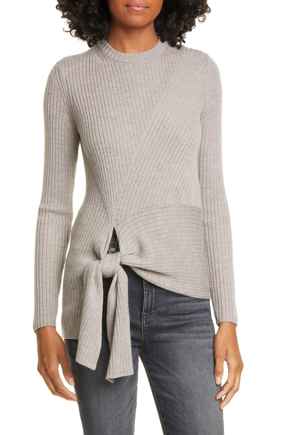 Women's Brochu Walker Dean Tie Hem Merino Wool Sweater
