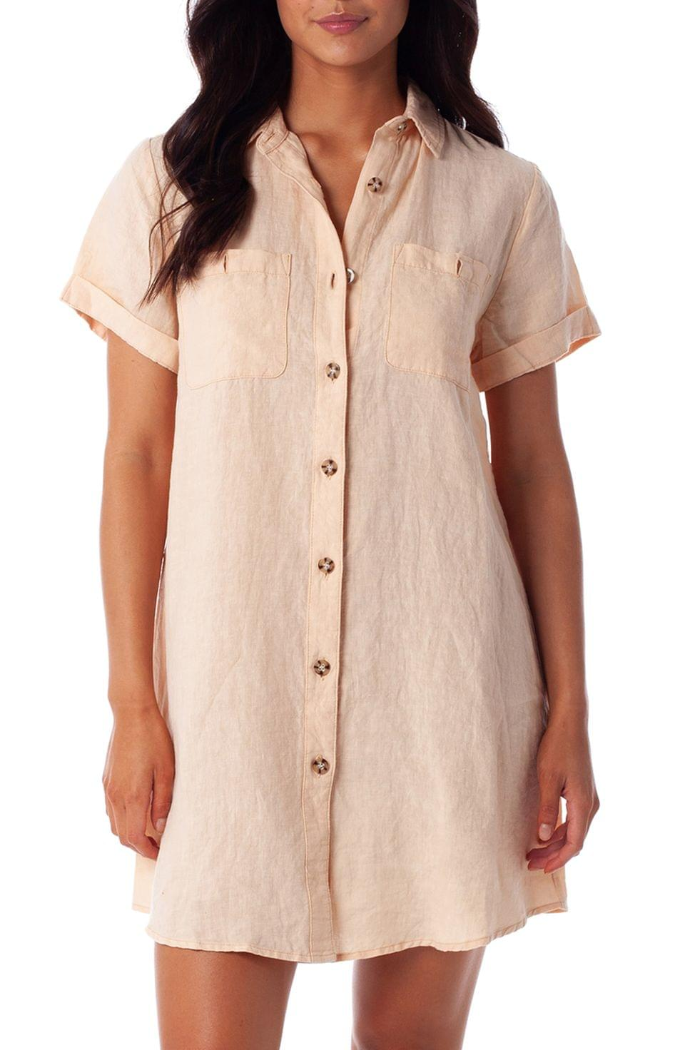 Women's Rhythm Marbella Button-Up Cover-Up Dress