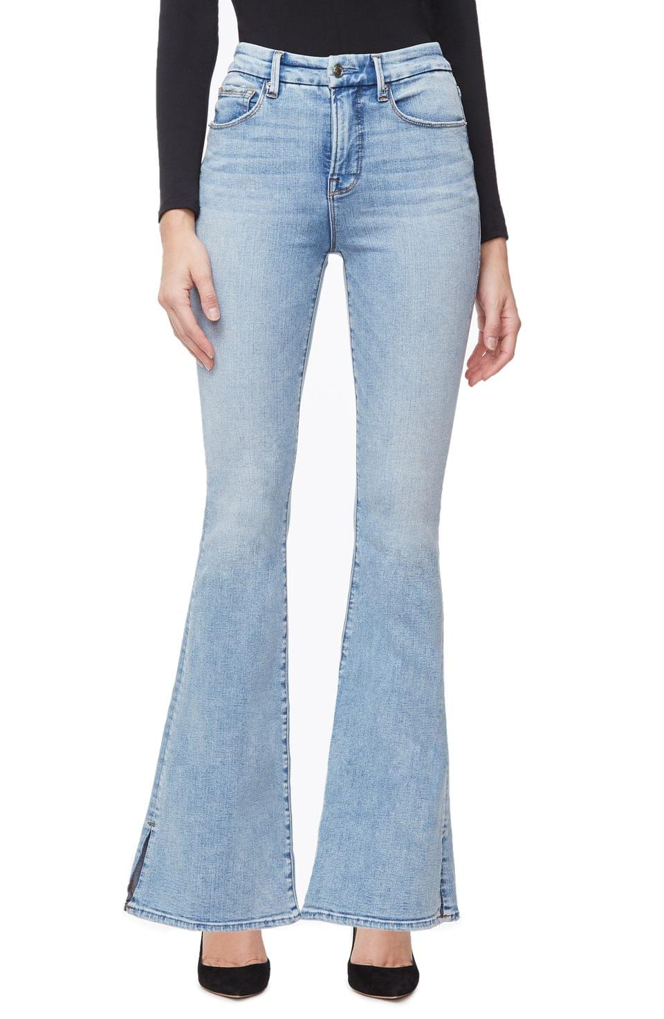 Women's Good American Good Flare Jeans (Regular & Plus Size)
