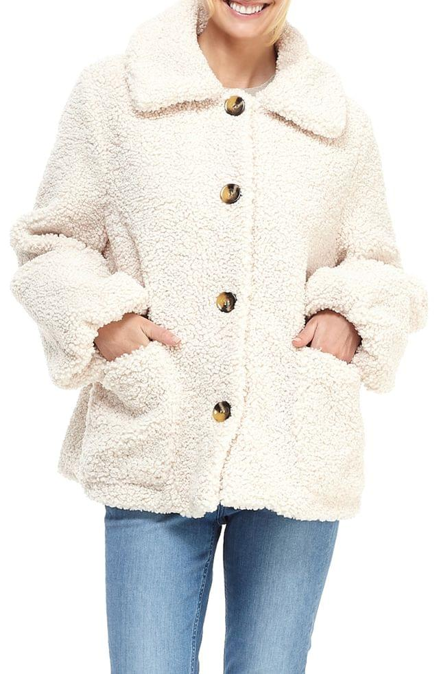 WOMEN Gal Meets Glam Collection Willa Teddy Bear Coat (Nordstrom Exclusive)