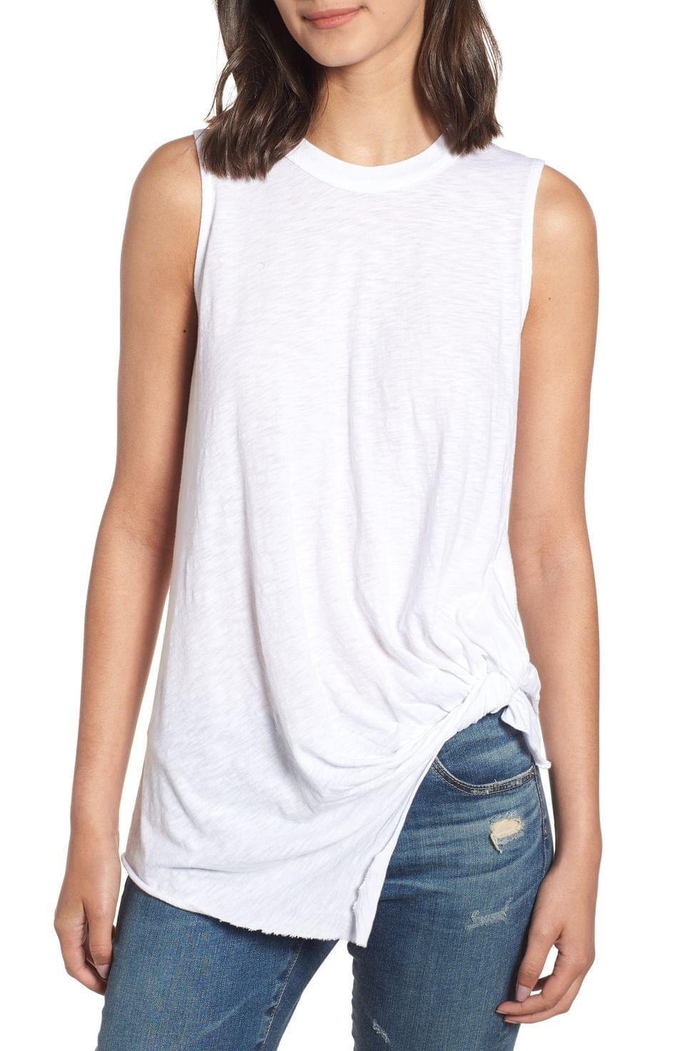 Women's Stateside Twist Hem Slub Supima Cotton Tank