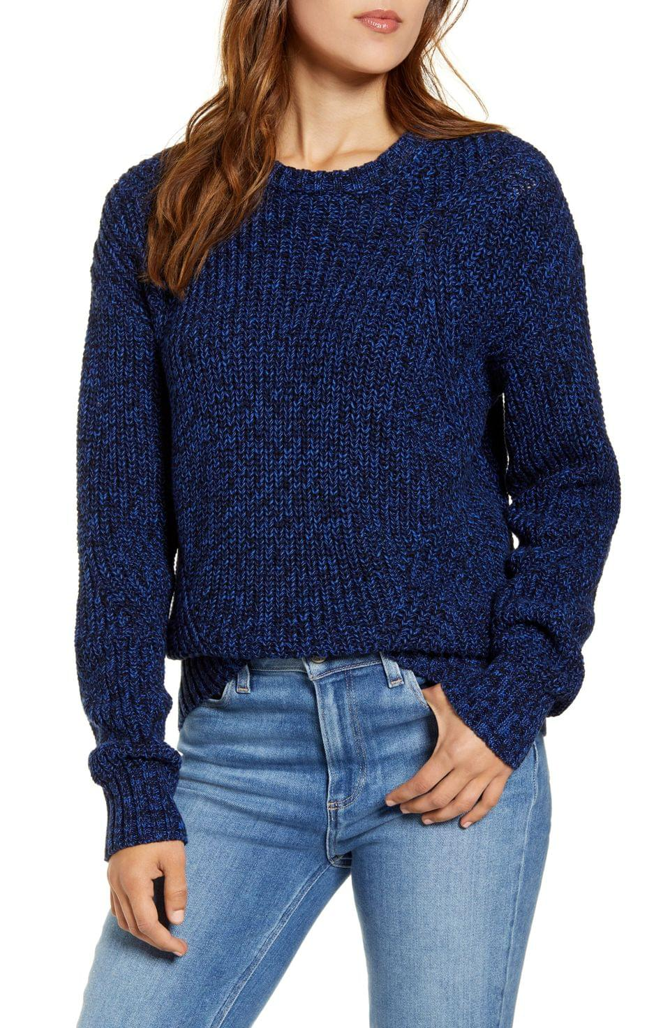Women's Lucky Brand Marled Cotton Sweater