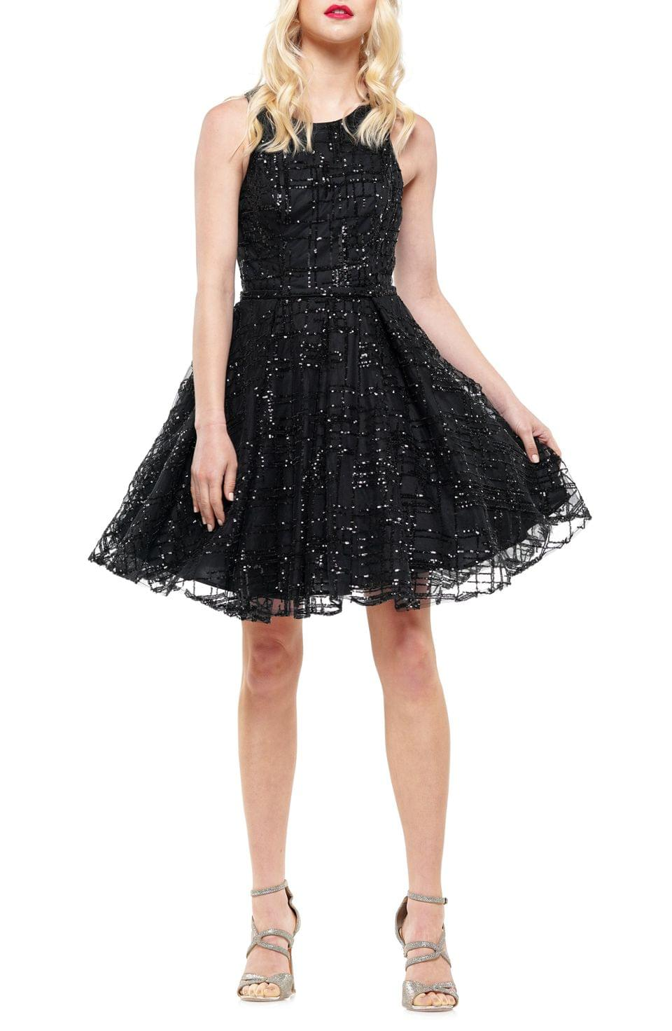 Women's Colors Dress Sequin Checked Party Dress