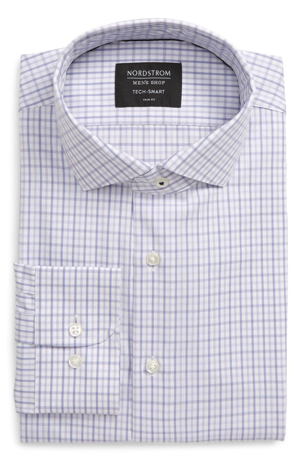 Men's Nordstrom Men's Shop Tech-Smart Trim Fit Check Dress Shirt