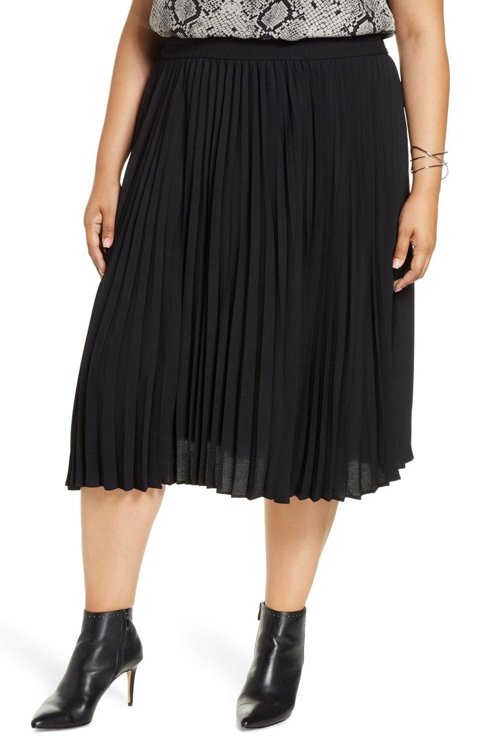 Women's Halogen Pleated Skirt (Plus Size)