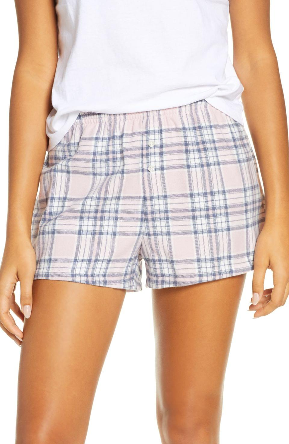 Women's BP. Flannel Boxer Shorts