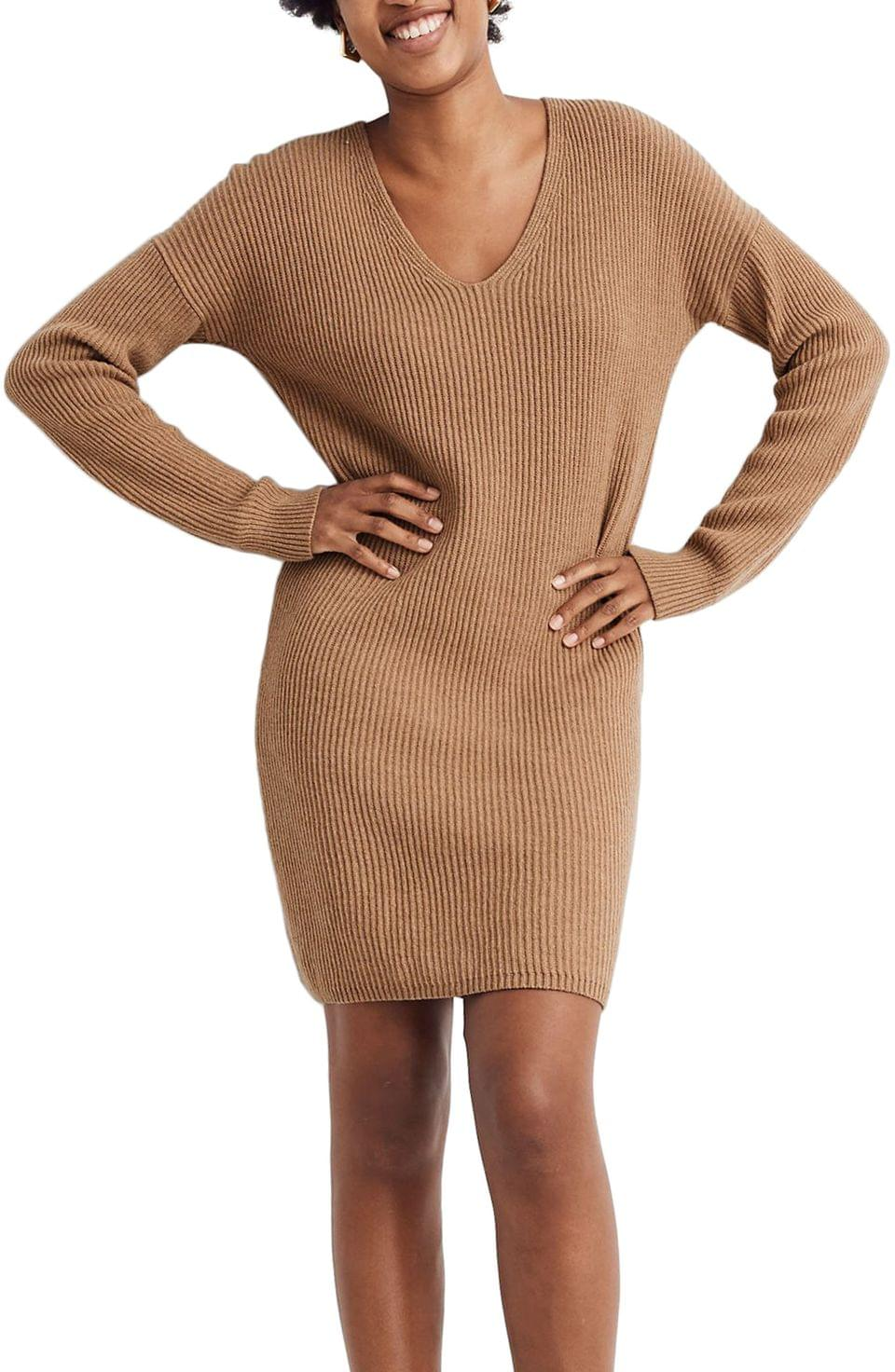 Women's Madewell Relaxed Long Sleeve Sweater Dress