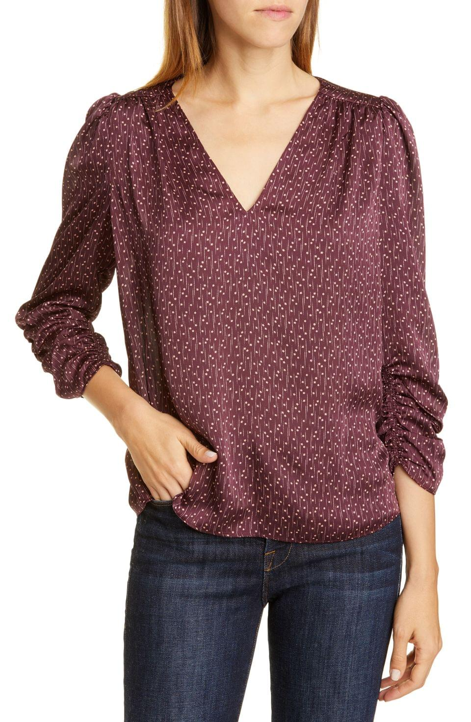 Women's Joie Maizie V-Neck Satin Top