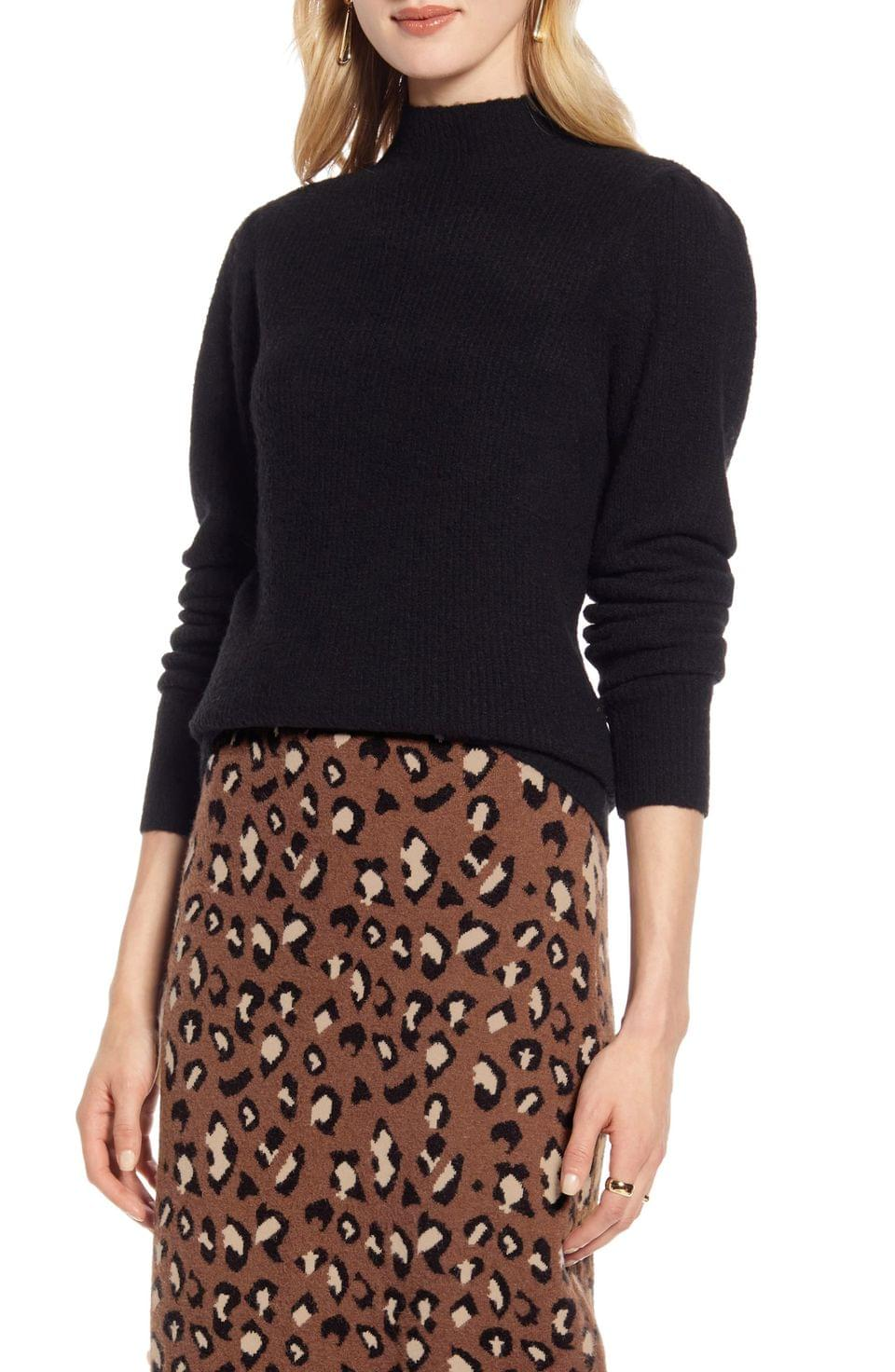 Women's Halogen Puff Shoulder Sweater