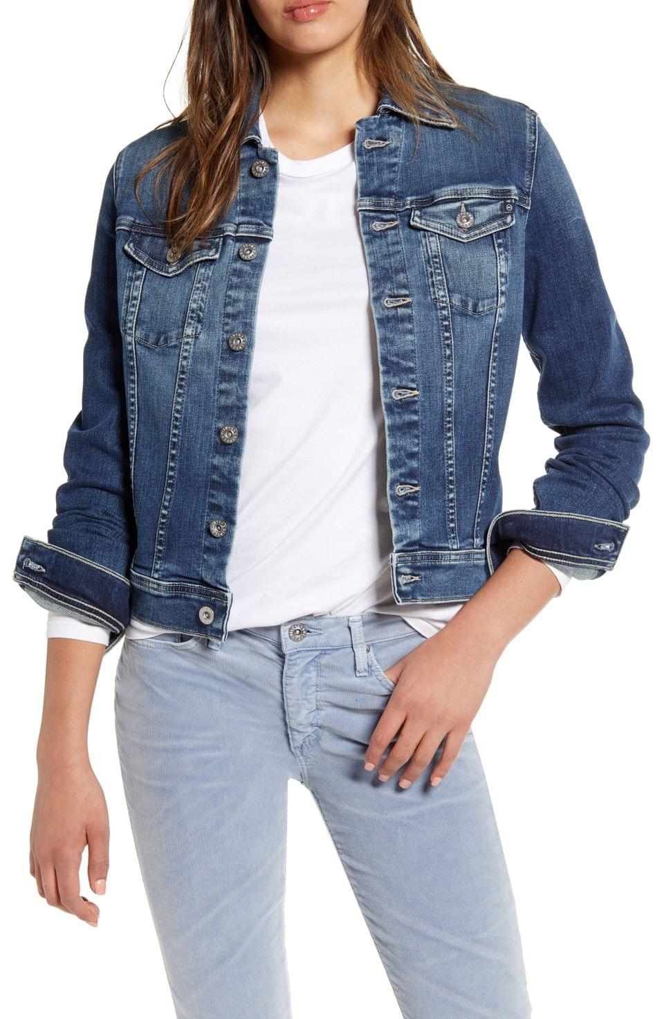 Women's AG Robyn Crop Denim Jacket