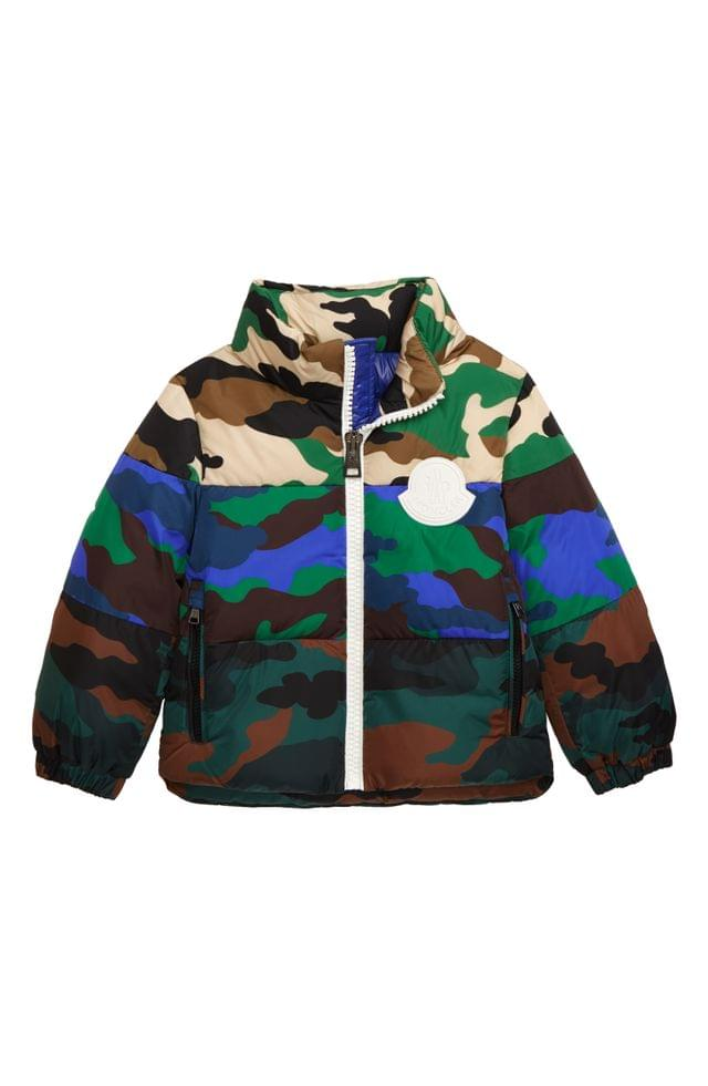 KIDS Moncler Marchaud Camo Water Resistant Down Insulated Jacket (Little Boys & Big Boys)