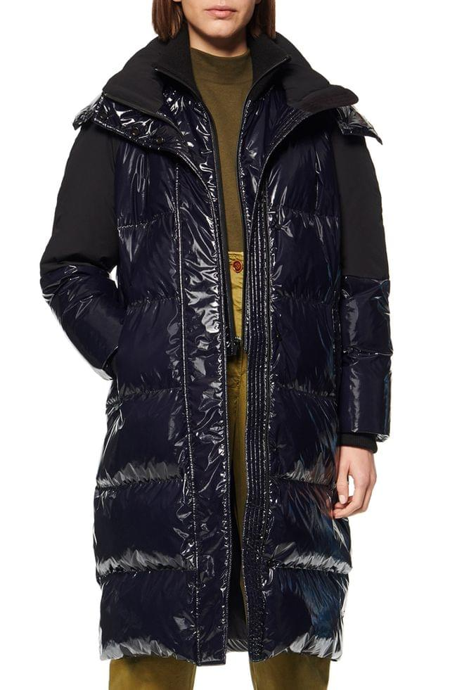 WOMEN Andrew Marc High Shine Down Puffer Jacket