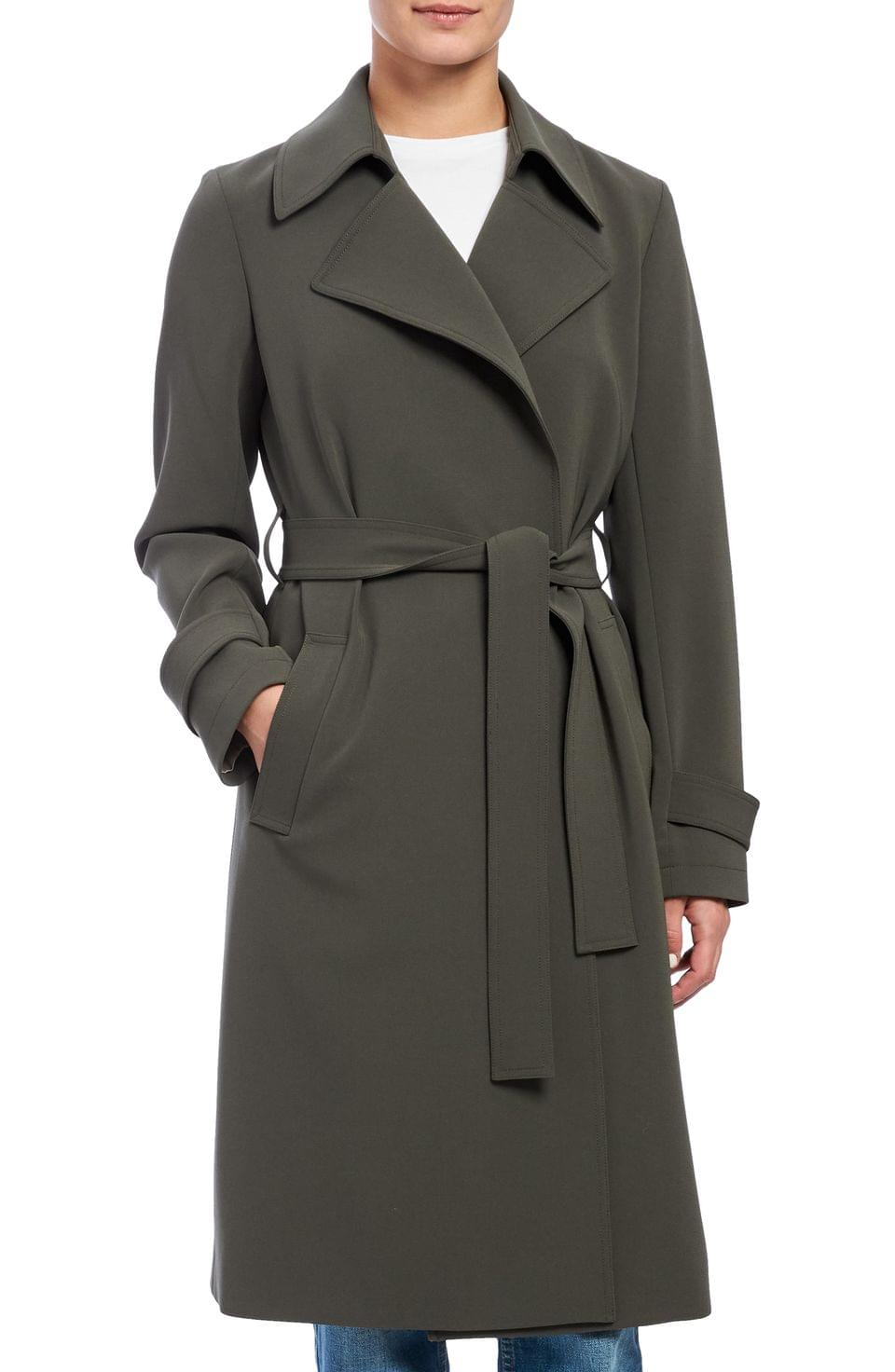 Women's Theory Oaklane Admiral Crepe Trench Coat