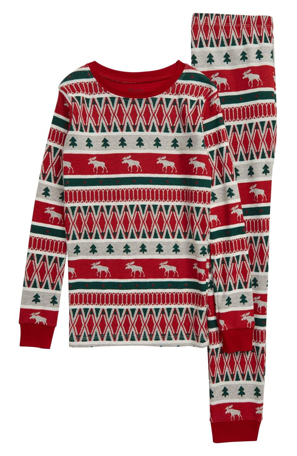 Boy's Hatley Winter Fair Isle Print Fitted Two-Piece Pajamas (Toddler Boys, Little Boys & Big Boys)