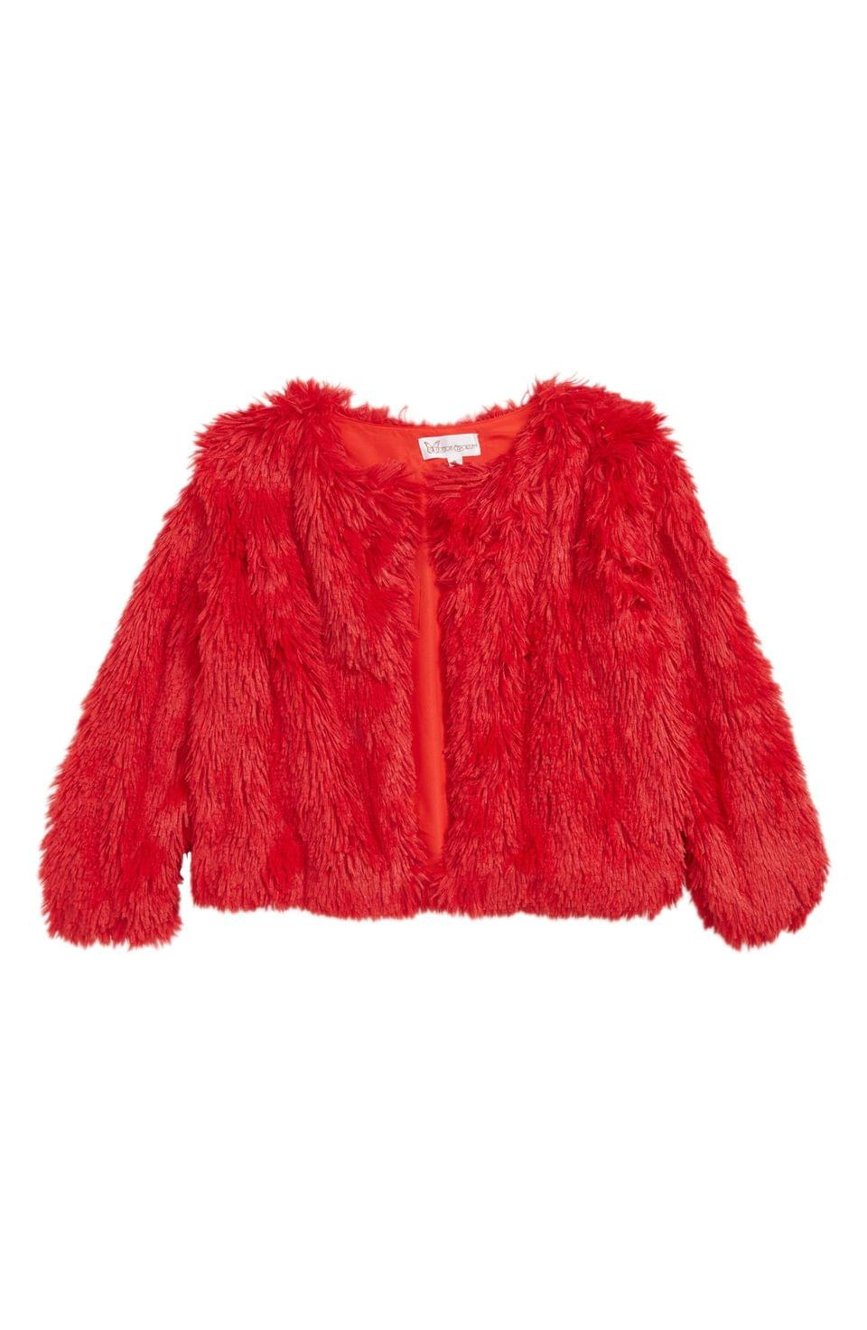 Girls's Cotton Emporium Faux Fur Jacket (Big Girls)