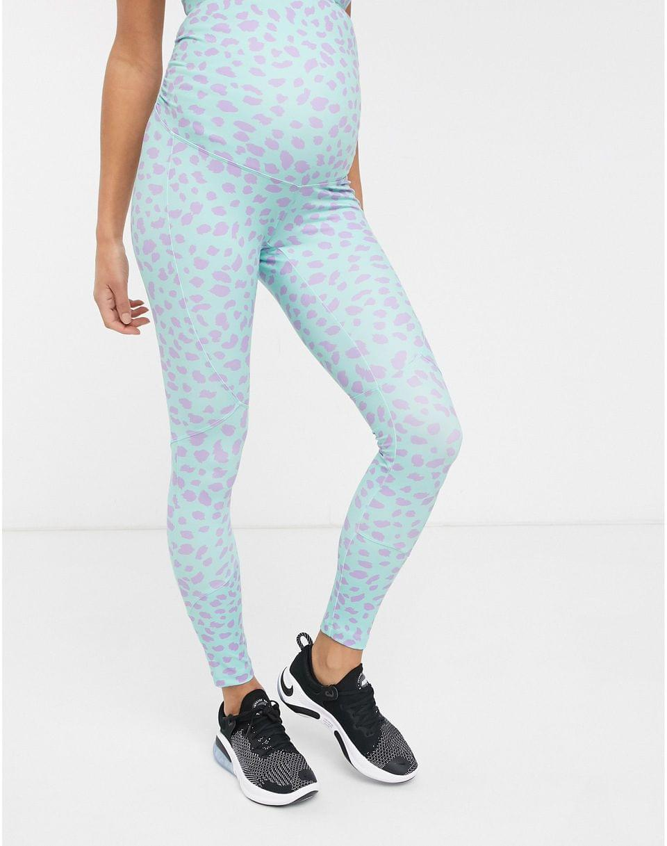 Women's 4505 Maternity high waisted legging with bum sculpt detail in pastel spot