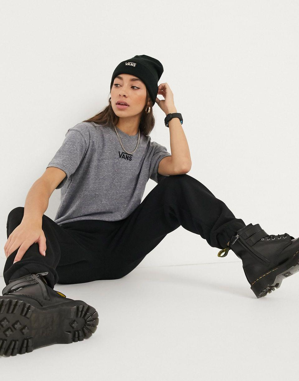 Women's Vans Oversized chest logo t-shirt in gray Exclusive at