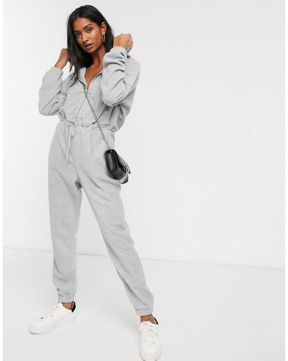 Women's Micha Lounge long sleeve jumpsuit with hood