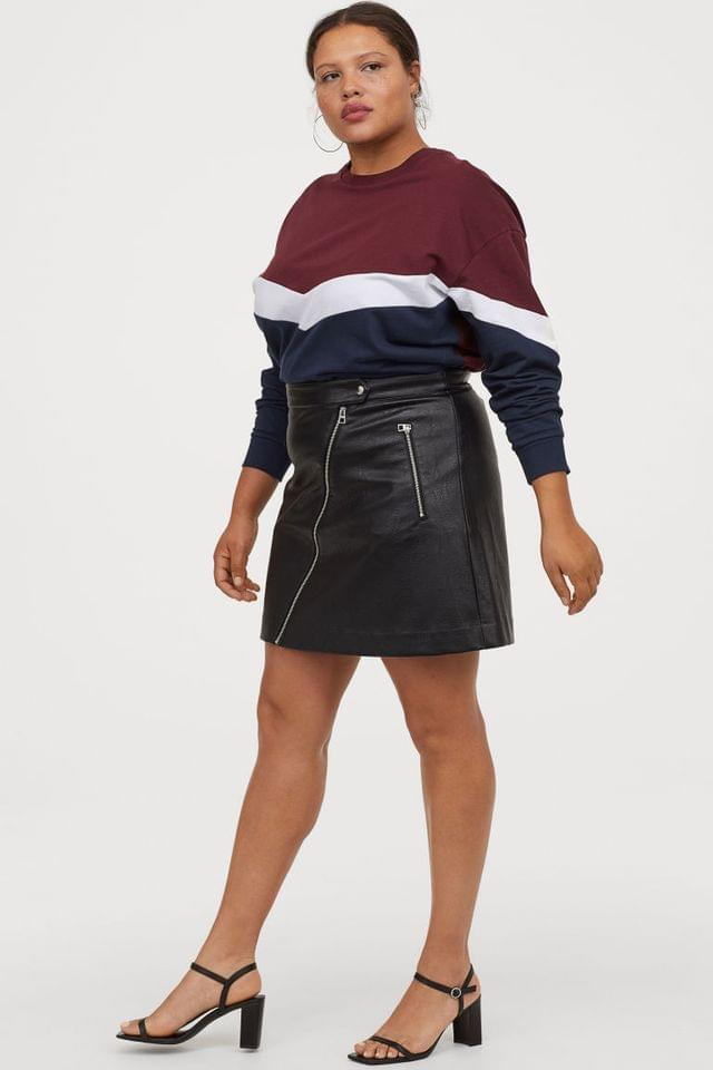 WOMEN H&M+ Faux Leather Skirt