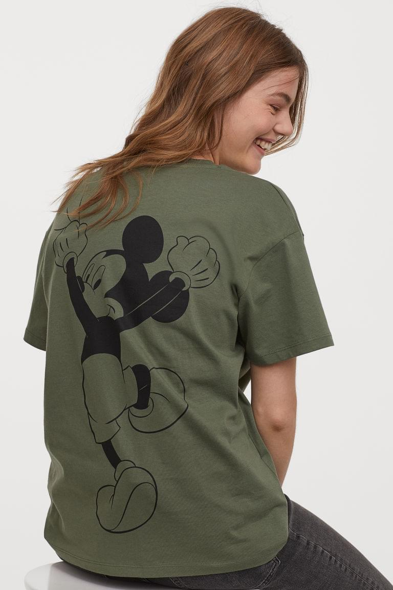 Women's T-shirt with Printed Design