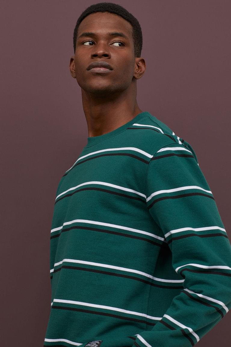 Men's Striped Sweatshirt