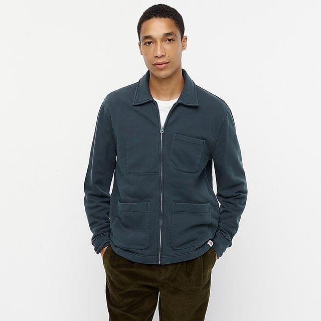MEN Wallace & Barnes french terry shirt-jacket
