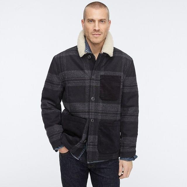 MEN Wallace & Barnes sherpa-lined chore coat with eco-friendly PrimaLoft