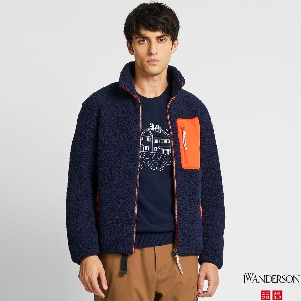 Men's MEN WINDPROOF PILE-LINED FLEECE FULL-ZIP JACKET (JW ANDERSON)