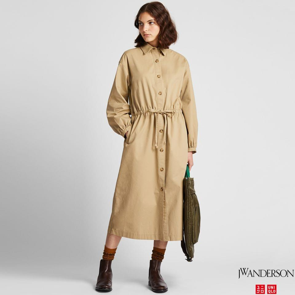 Women's WOMEN TWILL LONG-SLEEVE SHIRT DRESS (JW ANDERSON)