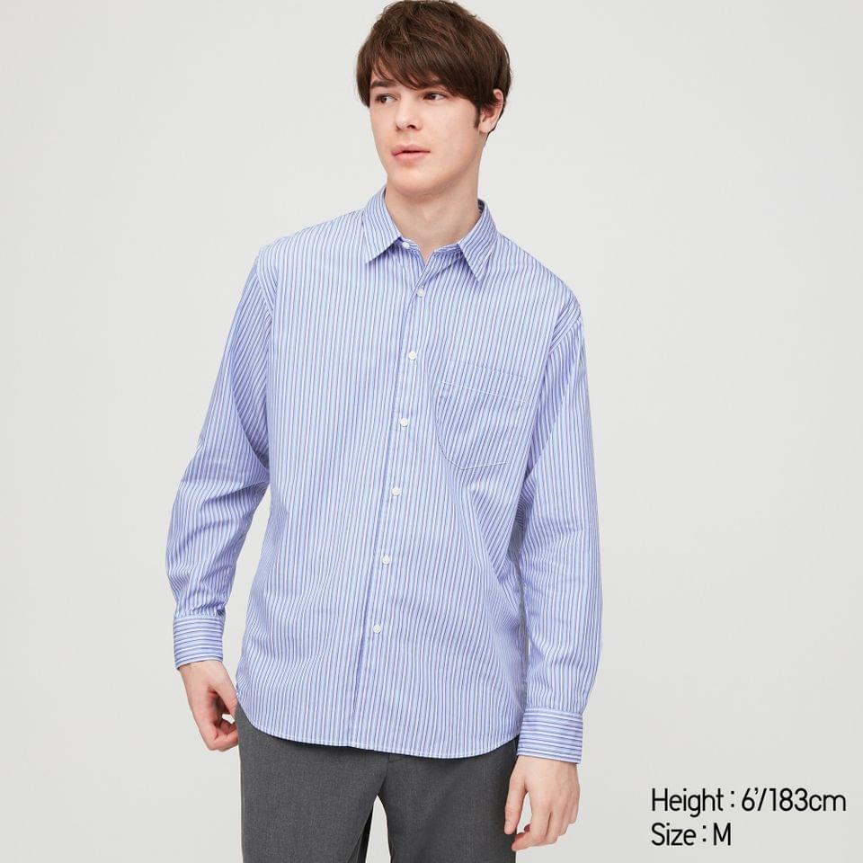 Men's MEN EXTRA FINE COTTON BROADCLOTH LONG-SLEEVE SHIRT