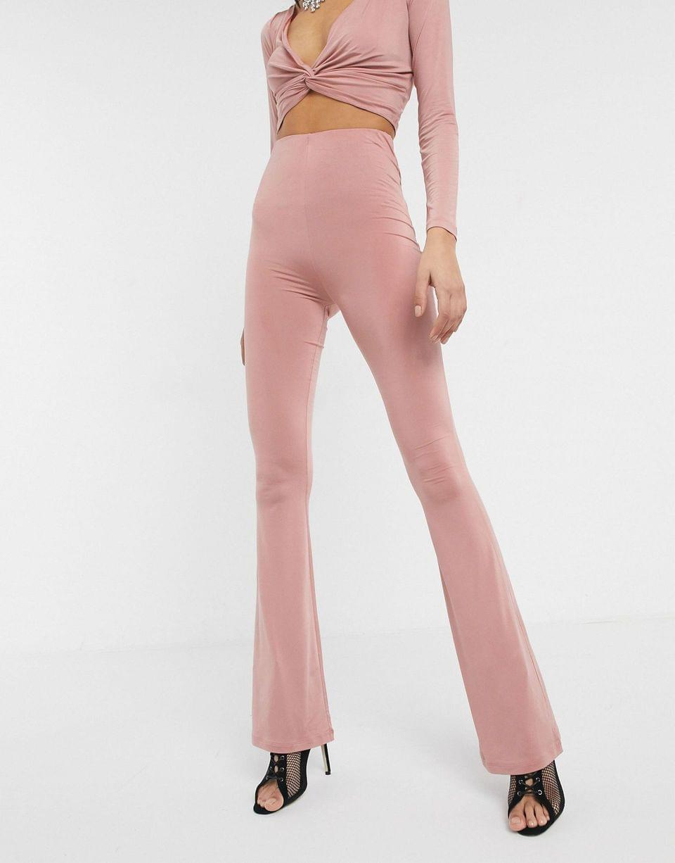 Women's Tall two-piece slinky flare pants