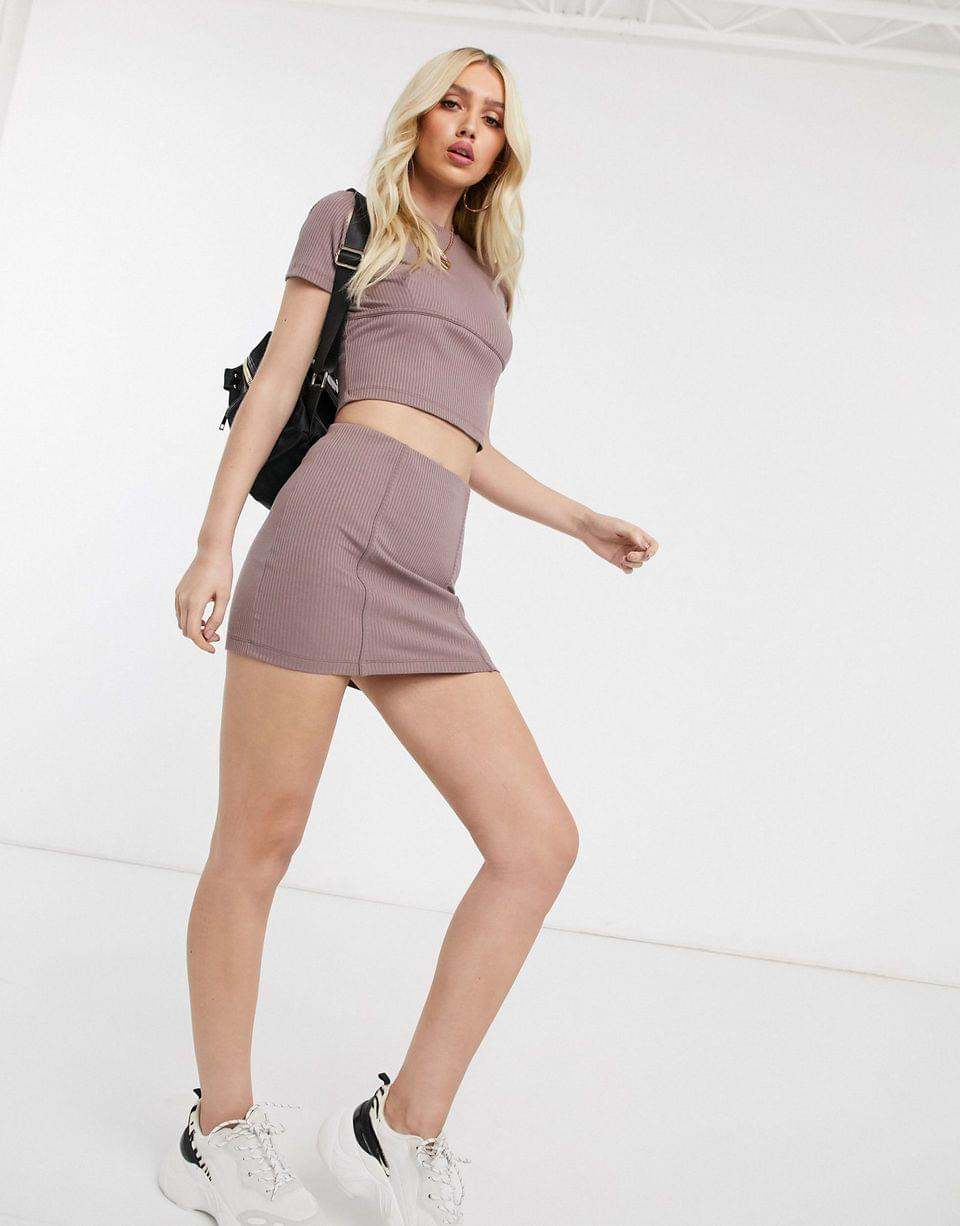 Women's two-piece slim t-shirt with corset detail