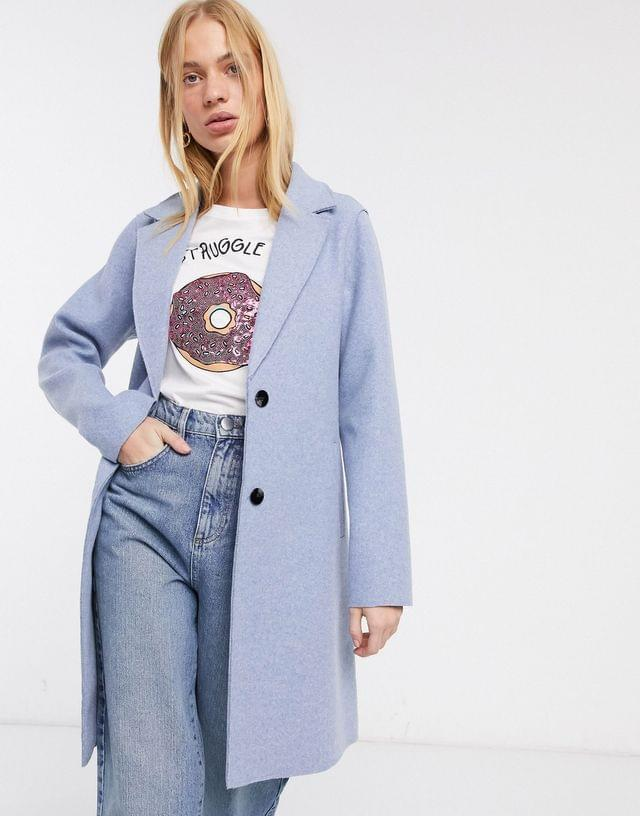 WOMEN Only tailored coat in blue