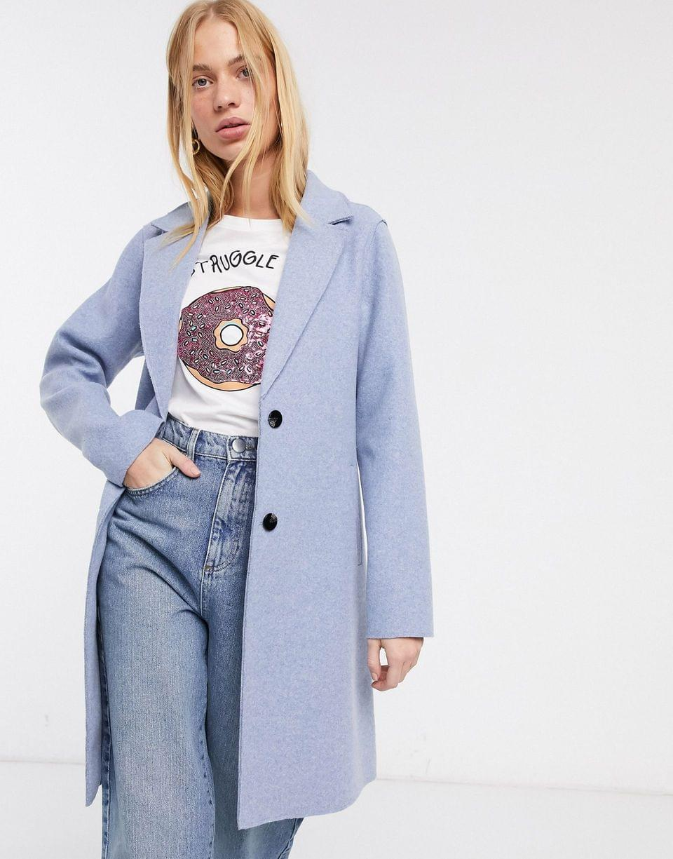 Women's Only tailored coat in blue