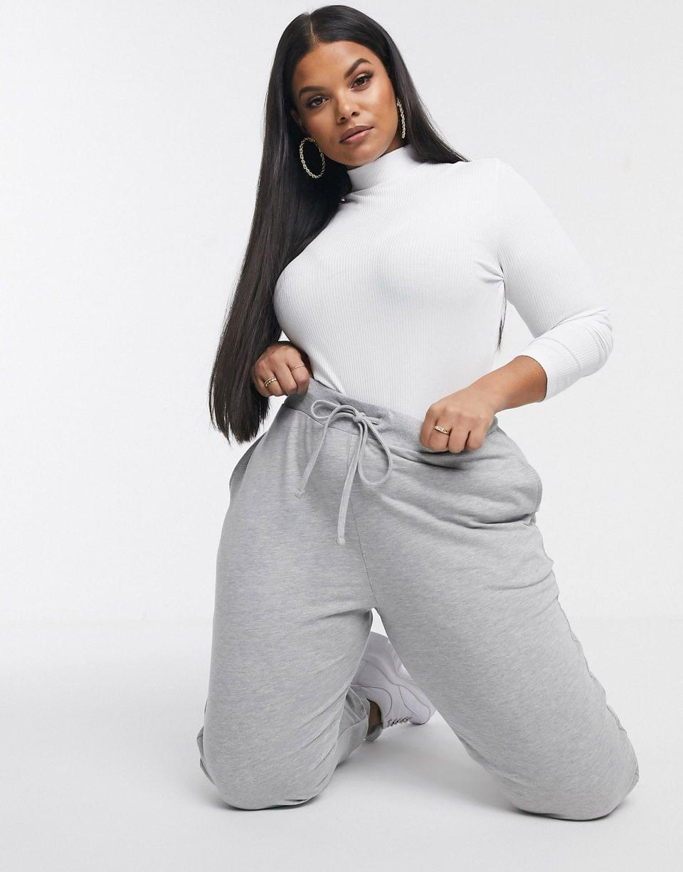 Women's Curve basic jogger with tie