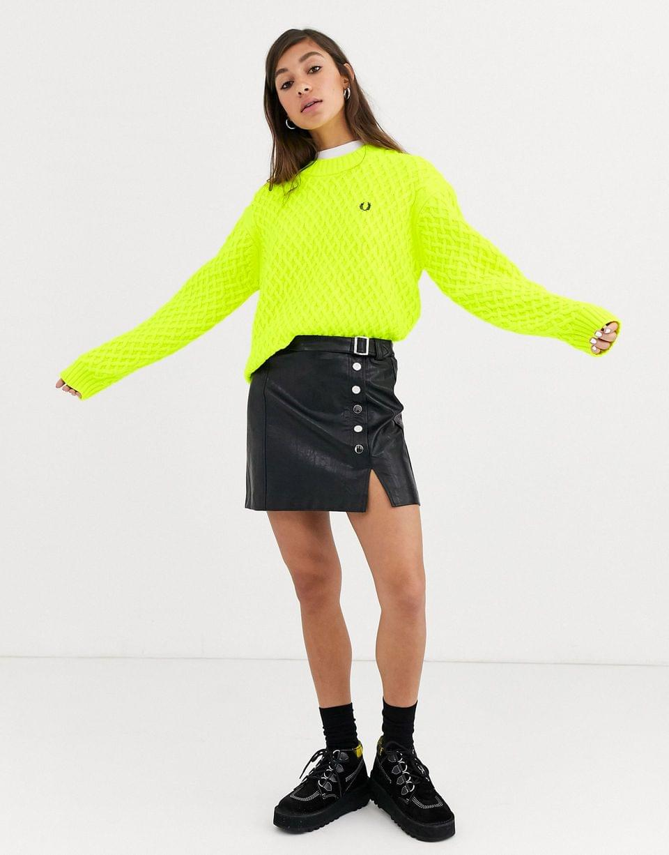 Women's Fred Perry textured sweater