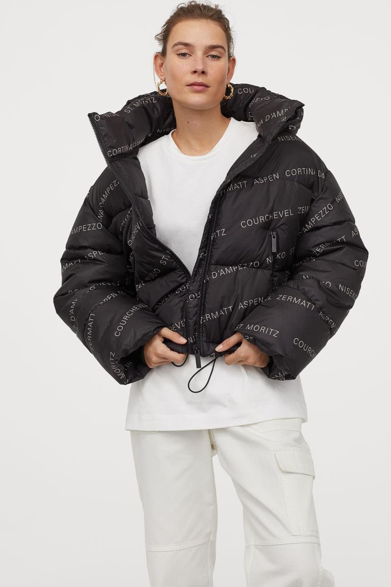 Women's Patterned Puffer Jacket