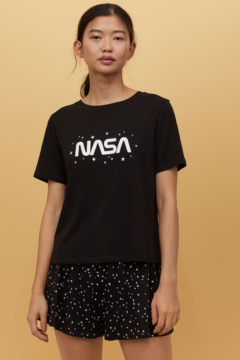 Women's Pajama Top and Shorts