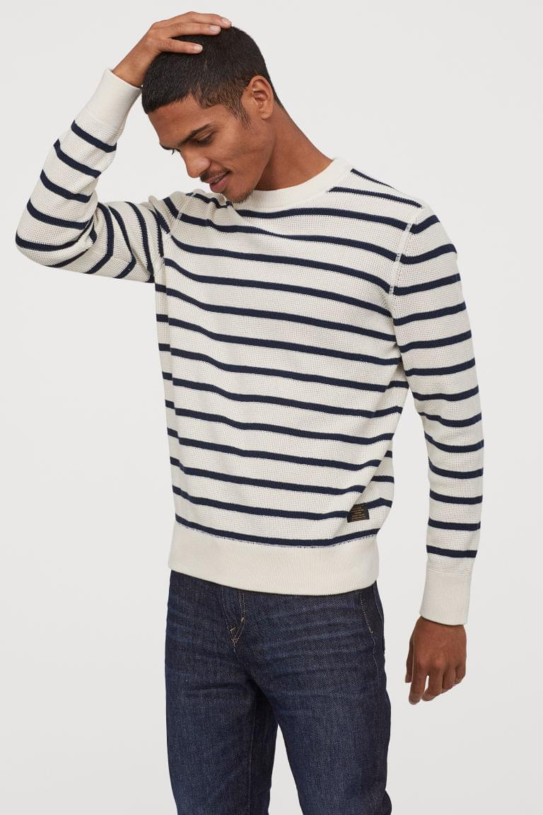 Men's Textured-knit Cotton Sweater