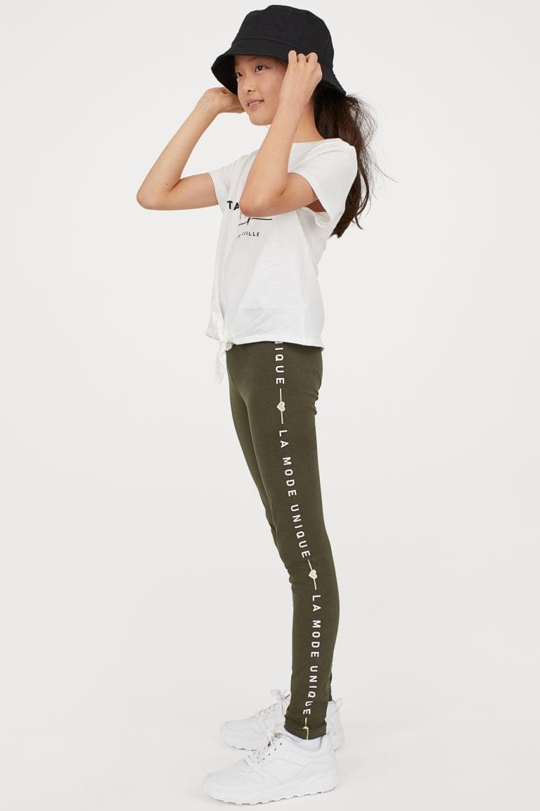 Girl's Jersey Top and Leggings